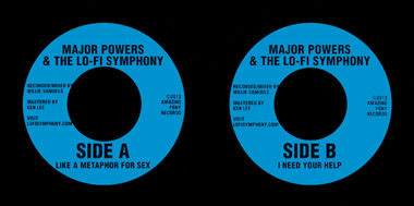 Major Powers 7 Inch Labels